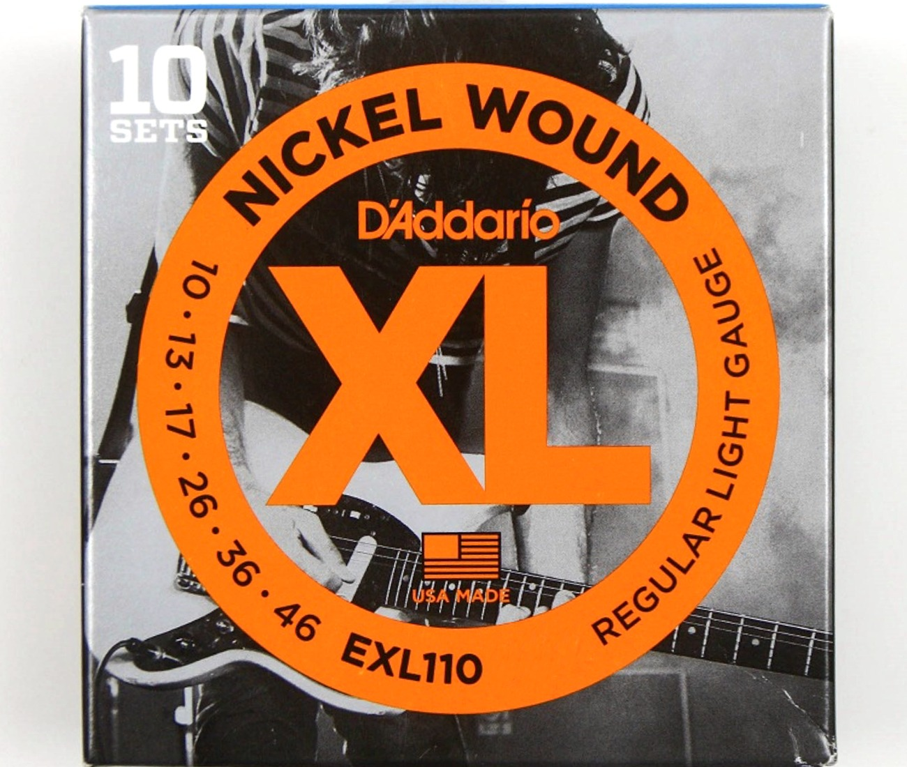 4 SETS D/'Addario EXL110 Electric Guitar Strings Nickel Regular 10-46