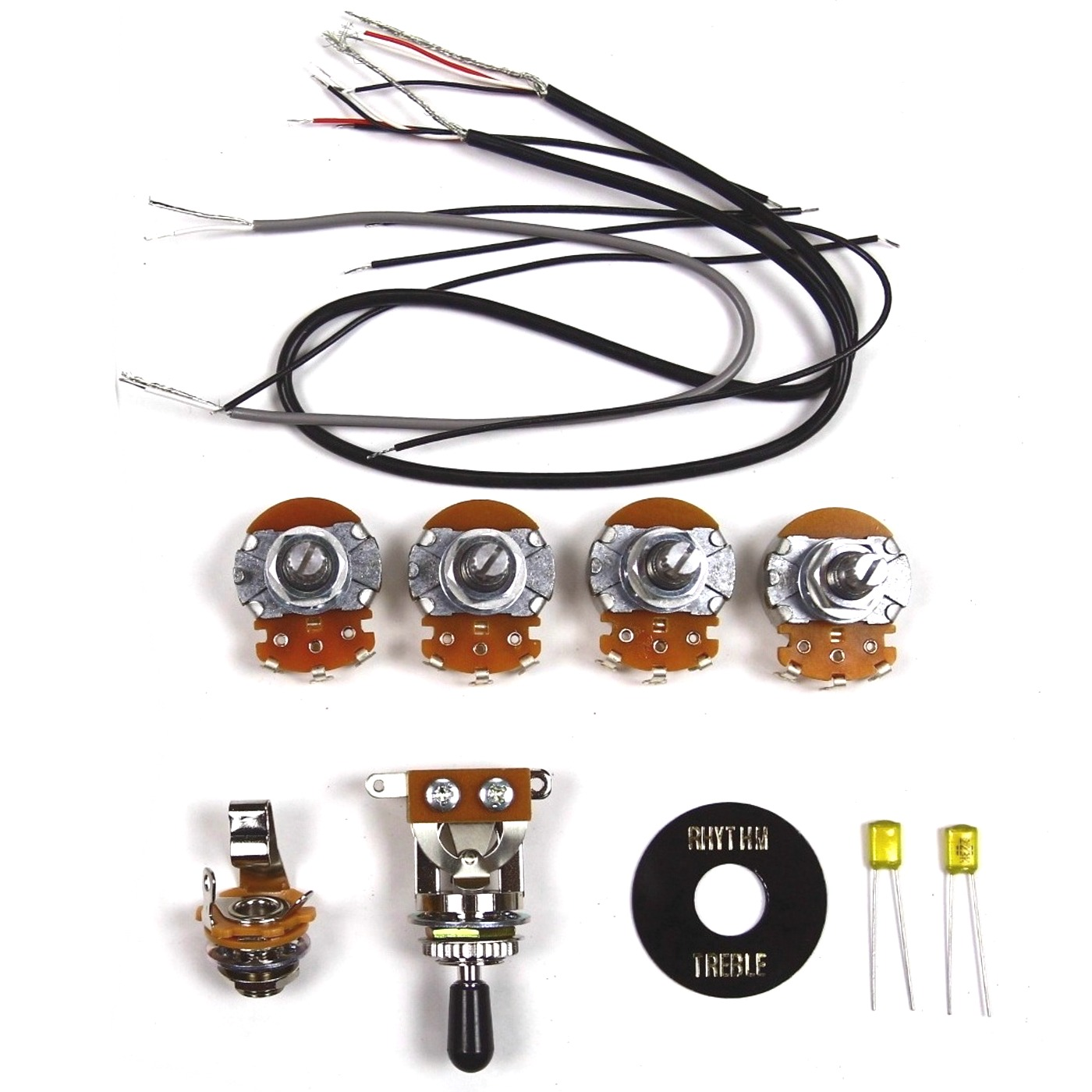 Wiring Kit For Lp Type Guitars With Diagram Black Guitar Pickup Kits Quick View