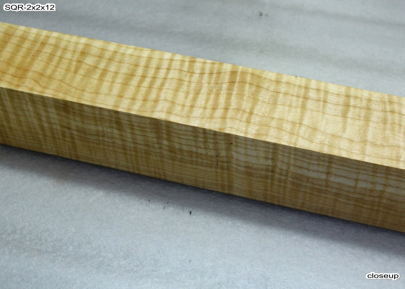 Curly maple peppermill spindle quot highly figured