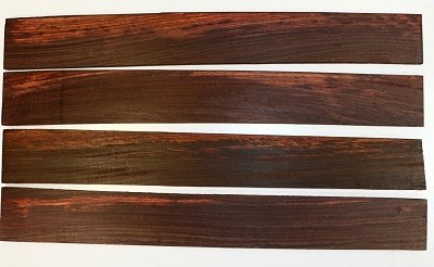 Indian Rosewood Guitar Fingerboards, 4 pieces, 21