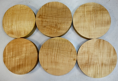 Maple Flame Rounds, 6 pieces, 10
