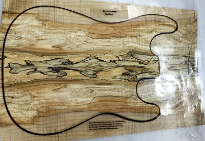 Spalted Maple Guitar set, 0.32