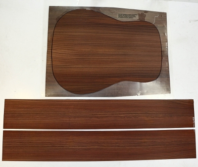 Indian Rosewood Dreadnought (PREMIUM) back & side set - Stock# 2-3177