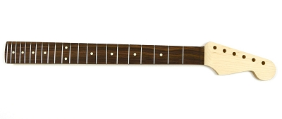 Rock Maple Guitar Neck with Rosewood Fingerboard for 22 Fret Strat® - Sanded, shaped, inlaid and fretted