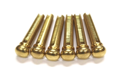 6 Brass Bridge Pins