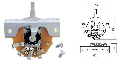 DM series Vintage style lever switch, 3-way or 5-way