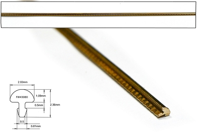 EVO Gold Fretwire - 600mm long, Crown: .080