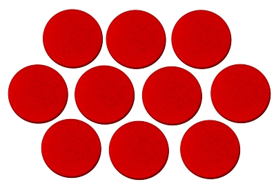 Red Round Position Marker Inlay (10 piece pack)