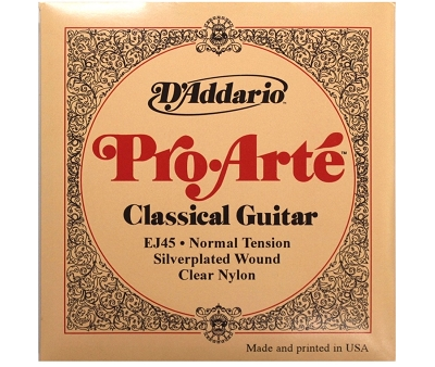D'Addario Classical Guitar EJ45 Strings - Nylon, Normal Tension