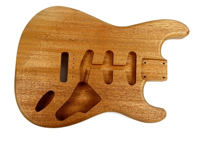 Shaped Strat® Unsanded One piece Guitar body, Mahogany