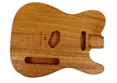 Shaped Tele® Unsanded One piece Guitar body, Mahogany