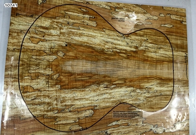 Spalted Maple Archtop Guitar set, 0.69