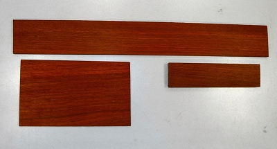 Padauk Fingerboard + Headstock + Bridge blank - Stock# 11112