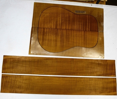Torrefied Maple Flame Dreadnought back & side set (+3A FIGURED) - Stock# 11114