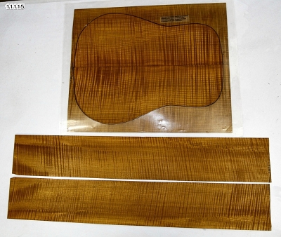 Torrefied Maple Flame Dreadnought back & side set (+4A HIGHLY FIGURED) - Stock# 11115