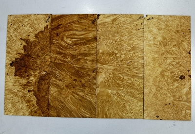 Maple Burl Pickguards, 4 pieces 0.22