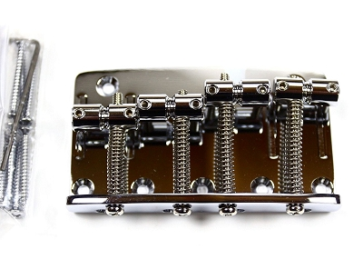 Gotoh 203B-4 Bridge for 4 String P-Bass and Jazz Bass guitars, Chrome