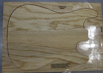 Swamp Ash solid body blank, unglued 2 piece set (Standard) - Stock# 7888