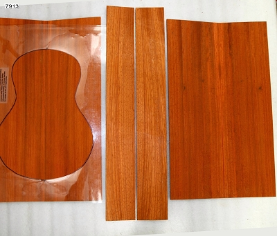 Padauk Ukulele back, top & side set, Baritone - Stock# 7913