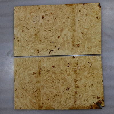 Maple Burl Pickguard, 2 pieces, each 0.24