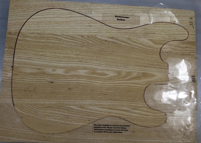 Swamp Ash solid body blank, glued 4pc (Standard) - Stock# 8118