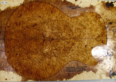 Maple Burl Guitar set (5A HIGHLY FIGURED) 0.27
