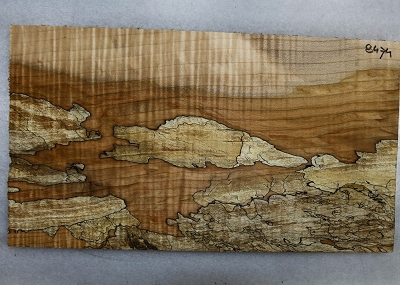 Spalted Maple Pickguard piece 0.25
