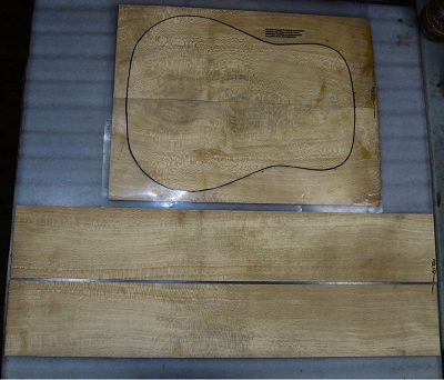London Plane Dreadnought back & side set (HIGHLY FIGURED) - Stock# 8560
