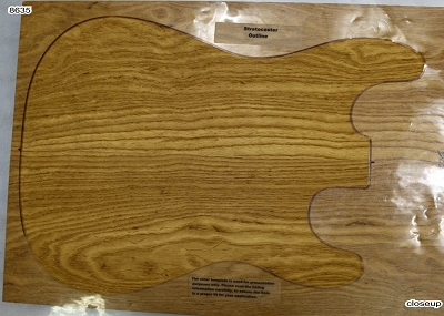 Torrefied Swamp Ash glued solid body blank, glued 2pc (+Standard) - Stock# 8635