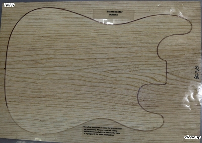 Swamp Ash solid body blank, glued 2pc (+Standard) - Stock# 8637