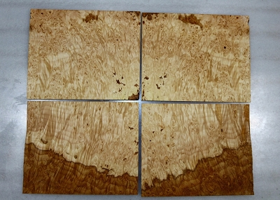 Maple Burl Headstock, 4 pieces, each 0.22