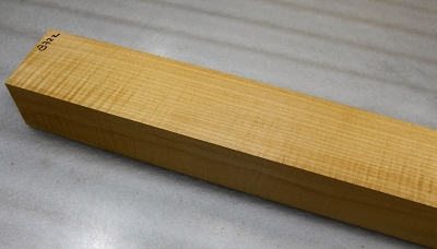 Maple Flame neck blank: 2.25