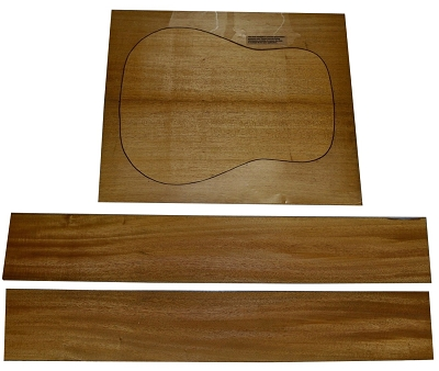 Khaya (African Mahogany) back & side set (2nd grade) - Select size in options