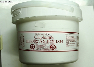 Clapham's Beeswax Polish, 40 Ounces