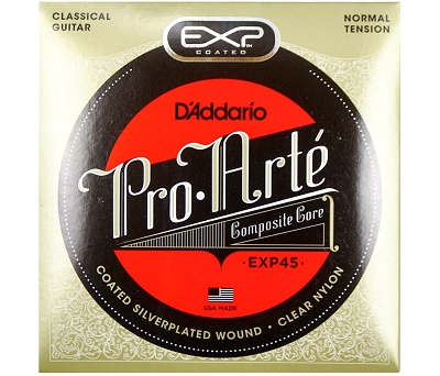 D'Addario EXP45 Coated Classical set, Normal Tension