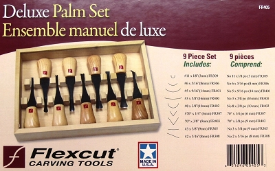 Flexcut Deluxe Palm Carving 9 piece Set