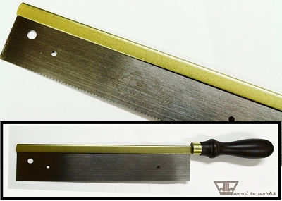 Crown Steel Fret Saw with brass back and 0.57mm kerf
