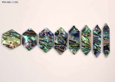 Abalone Pre-Cut Hexagon Position Marker Inlay (8 piece set)