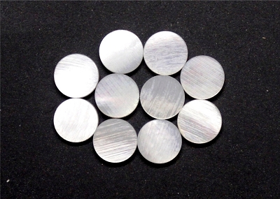 Mother of Pearl Round Position Marker Inlay (10 piece pack)