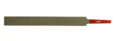 Gauged Edge-Cut Nut Slotting File 0.042