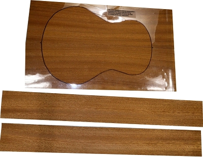 Sapele Ukulele back & side set, with available matching top (HIGH GRADE)