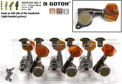Gotoh SGS510Z-CK-P8 Tuner set for Electric and Acoustic Guitar (6 LEFT) Magnum Lock - Trad