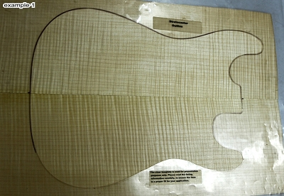 Maple Flame Guitar set, 0.25