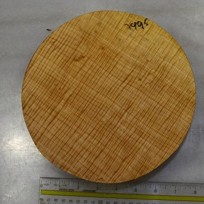 "Maple Flame Round 8"" diameter x 2.3"" thick (5A HIGHLY FIGURED) - Stock# 7995"