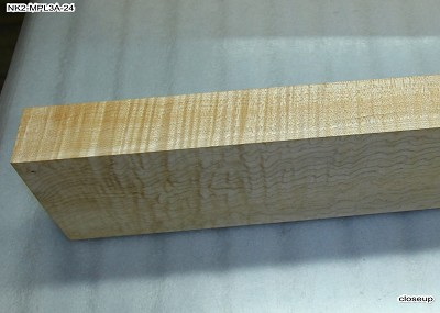 Maple Flame neck blank 2