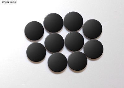 Black 6mm Round Position Marker Inlay (10 piece pack)