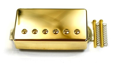Covered Humbucker with Alnico Almax magnet, Gold