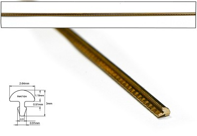 EVO Gold Fretwire - 600mm long, Crown: .104