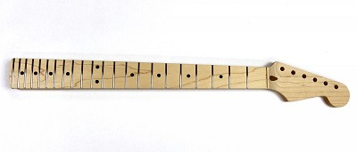 Rock Maple Guitar Neck with Trussrod for 22 Fret Strat® - Sanded, shaped, inlaid and fretted