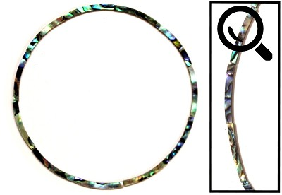 Rosette / Purfling Inlay - Abalone 30mm radius Curved for Ukulele / Parlor, 12 pieces